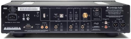 Cambridge Audio Azur 851D HIGH END Sztereo DAC back