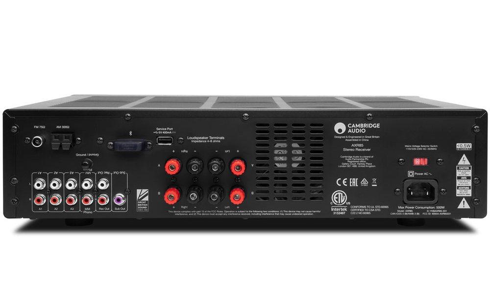 Cambridge-audio-AXR85-sztereo-receiver-back